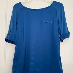 NWOT The Limited. Royal Blue blouse, size S